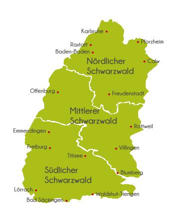 Schwarzwald Kartenübersicht